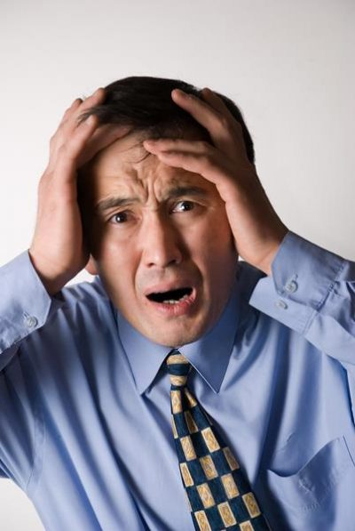 Man heeft last van stress