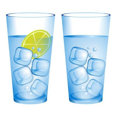 glas ijswater limoen