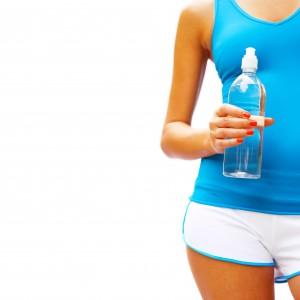 Workout Woman On White