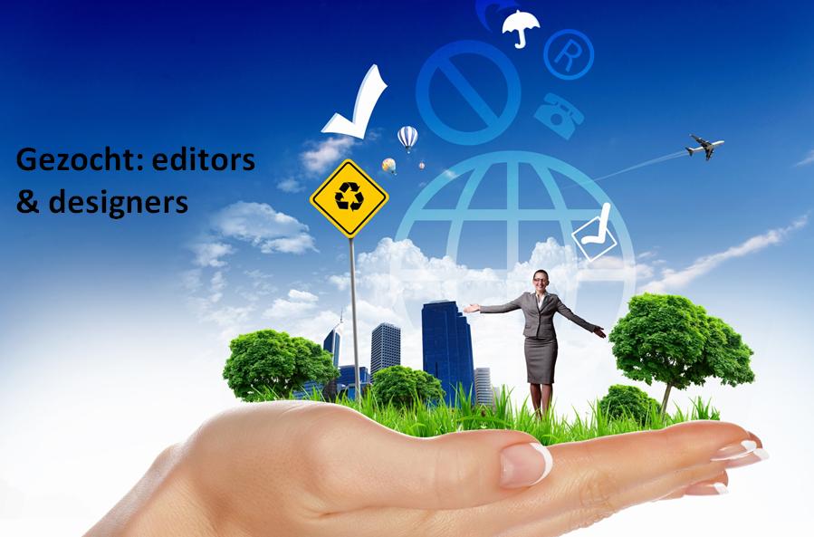 Vrijwilligers voor editing en design gezocht