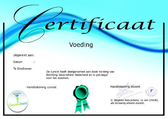 voeding expert certificaat