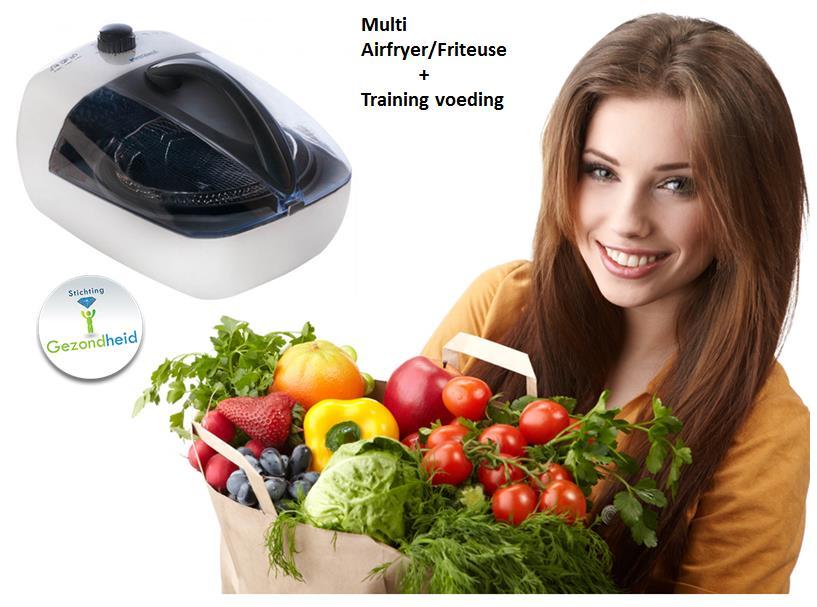 Multi Airfryer Friteuse met cursus Gezonde Voeding