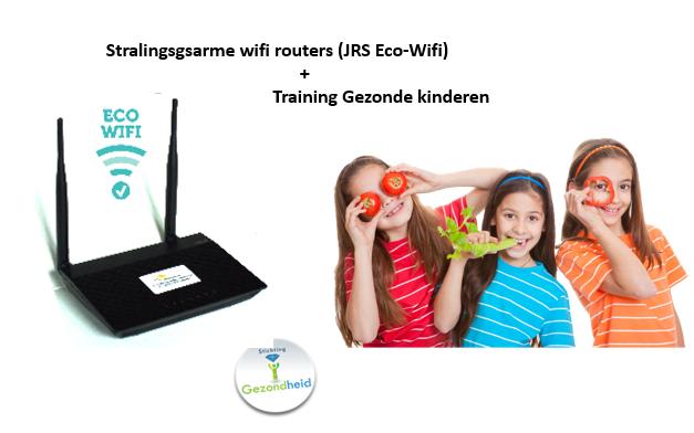 Stralingsgsarme wifi router (JRS Eco-Wifi 01A) met cursus Gezonde kinderen