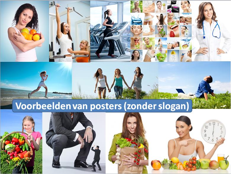 Voorbeelden van posters die wel met slogan kunnen voorzien
