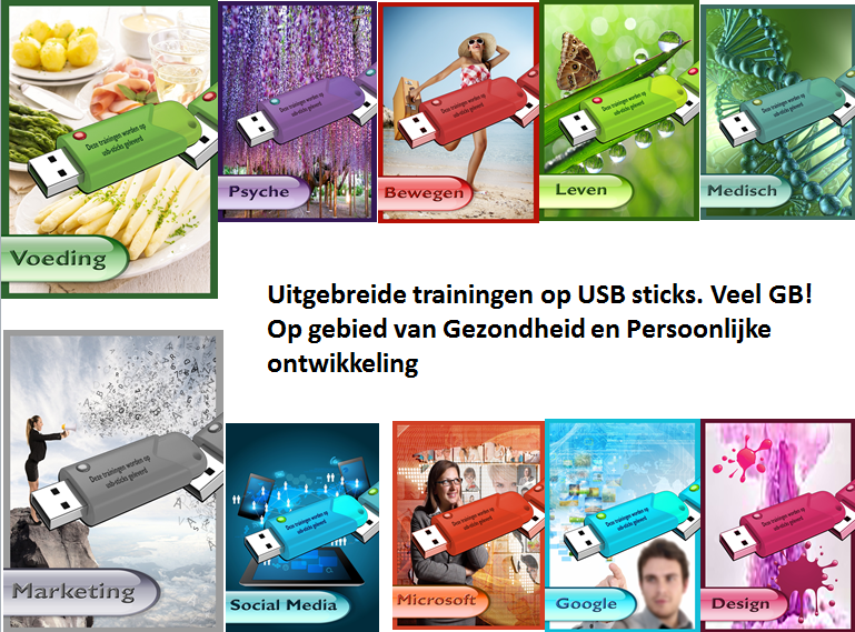 11 expert trainingspakketten op USB