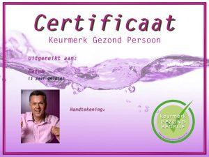Certificaat Gezond Persoon