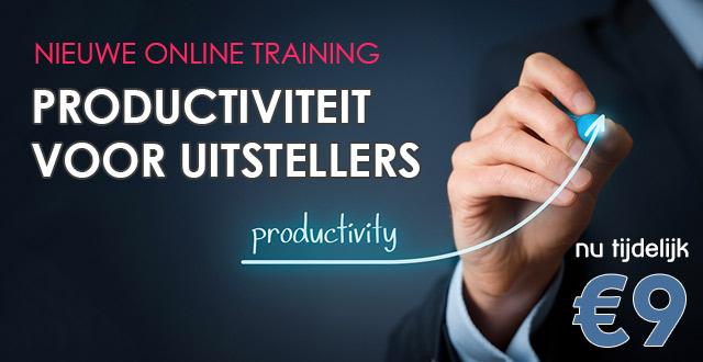 """Nieuwe cursus """"Productiviteit voor Uitstellers"""". Nu 9 euro"""