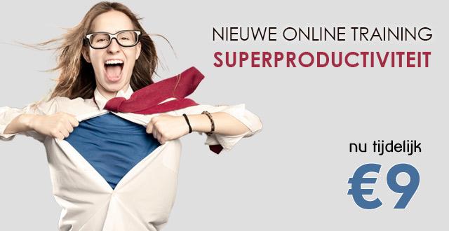 "Nieuwe cursus ""Superproductiviteit"". Nu 9 euro"